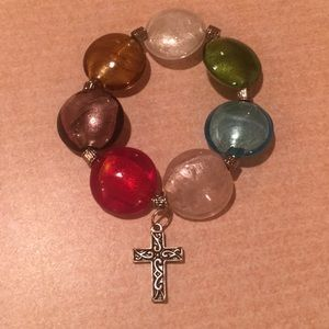 Jewelry - Seven Virtues Bead Bracelet with Cross Charm